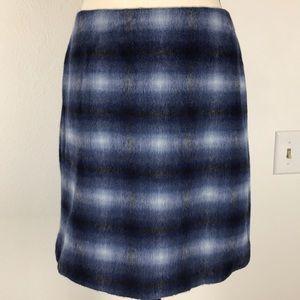Catherine Malandrino Soft Blue Black  Zipper Skirt